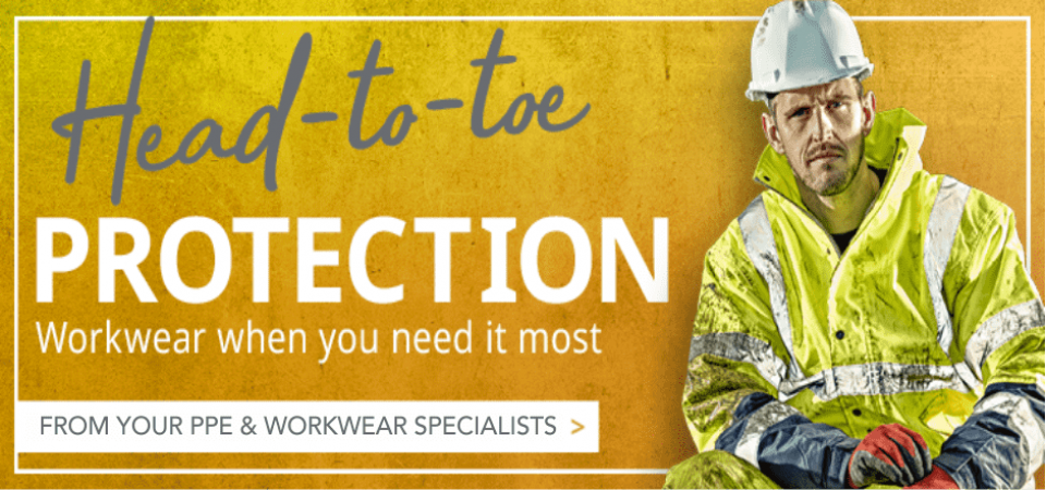 Head to toe protection - ppe - workwear - embroidery - Elite Workwear UK