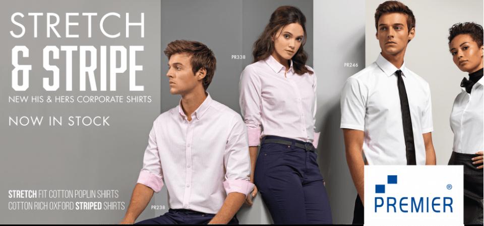 Permier Workwear Stretch & Stripe