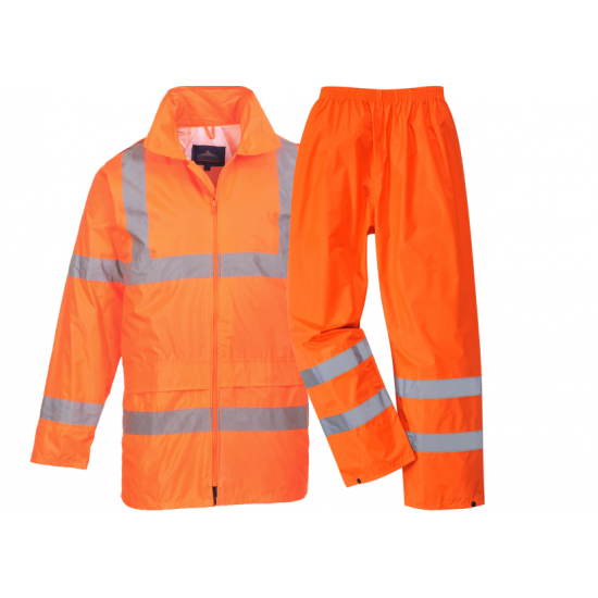 Hi-Vis Waterproof Jacket & Trouser Pack