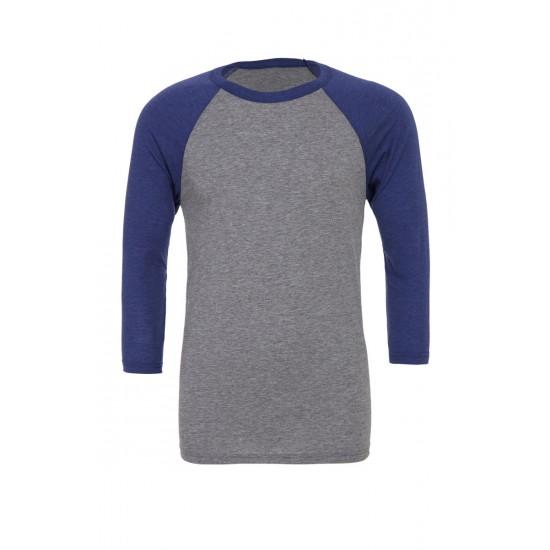 Canvas 3/4 Sleeve Baseball T-Shirt
