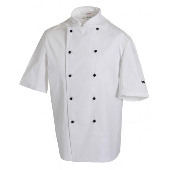 Removable Stud Lightweight Short Sleeve Chef's Jacket