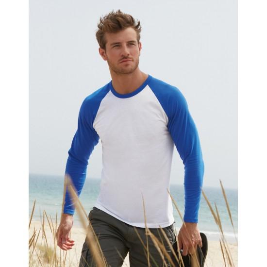 Astonishing Mens Valueweight Long Sleeve Baseball T Shirt Schematic Wiring Diagrams Amerangerunnerswayorg