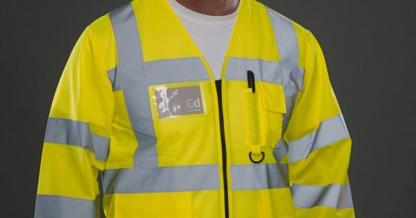 Yoko Hi-Vis Men/'s Executive Long Sleeve Jacket HVJ800 Safety Workwear Jacket